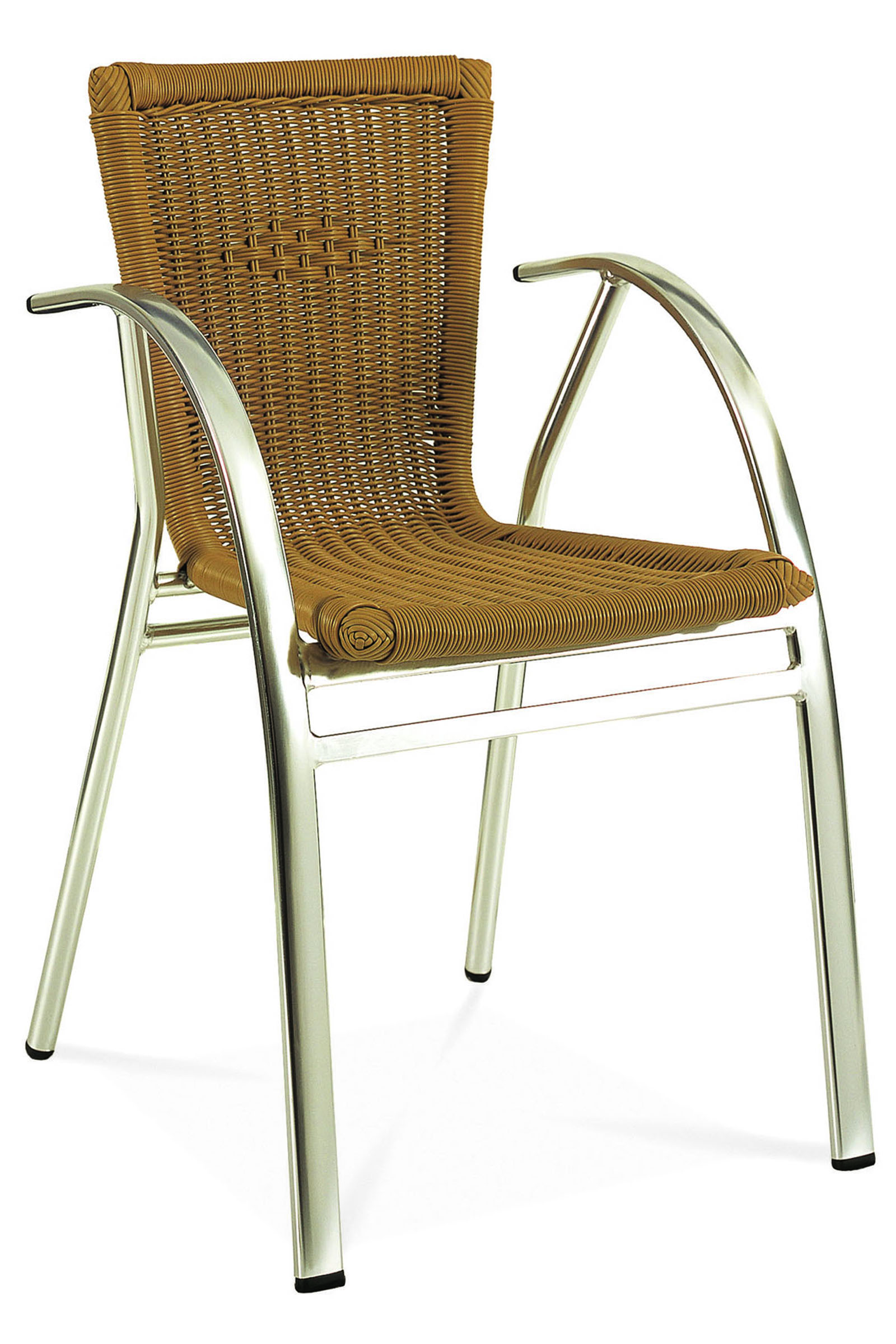 AL-1120 ST TROPEZ ARMCHAIR ALUM/HONEY
