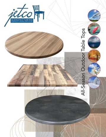 Jetco All Season outdoor Table Tops page 1