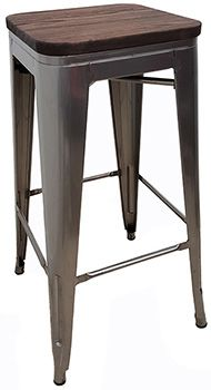 JTX-1801W TBH Retro Backless Barstool