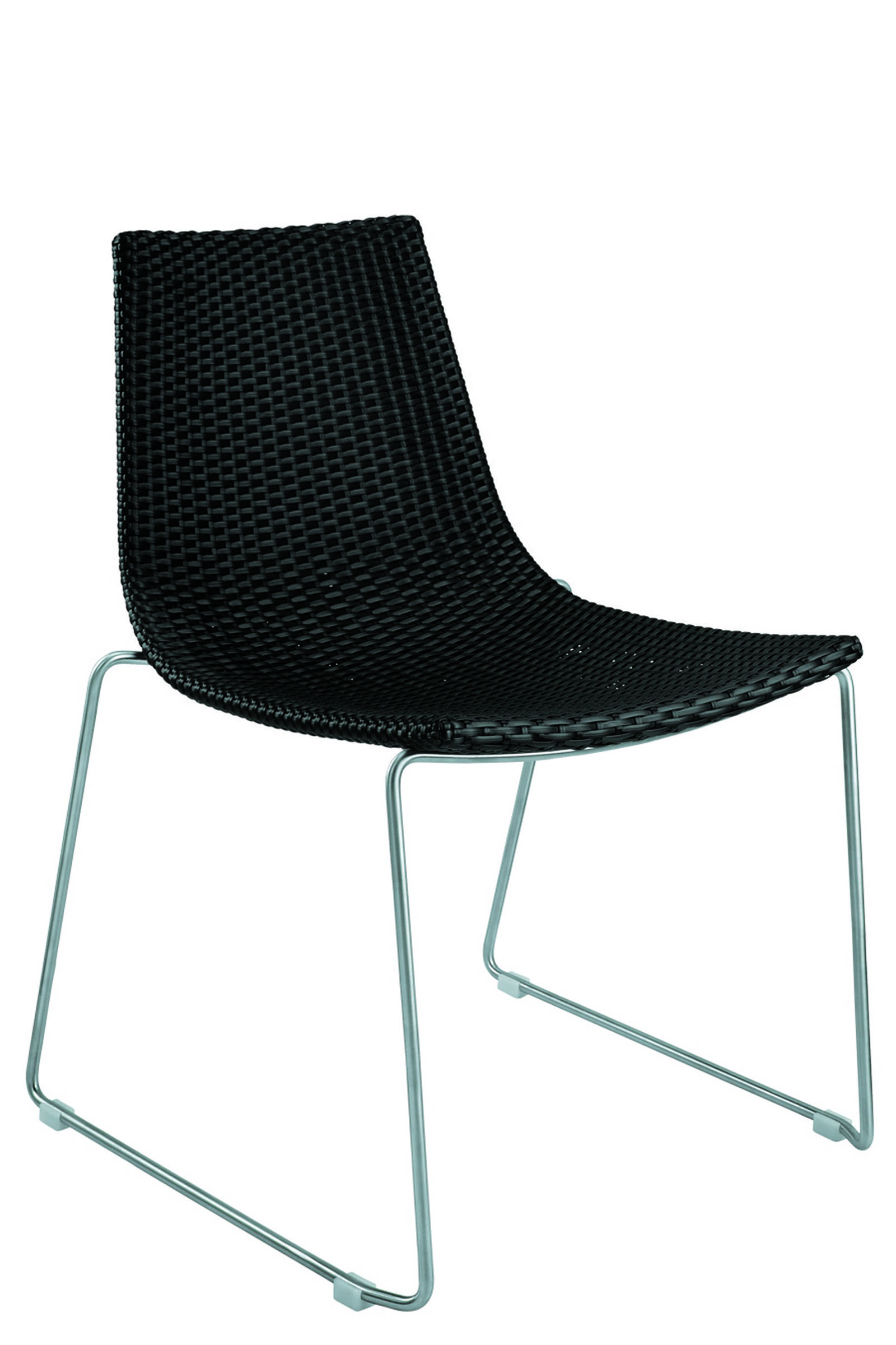 AL-7907-01-R DYNAMIC SIDECHAIR BLACK REEDED
