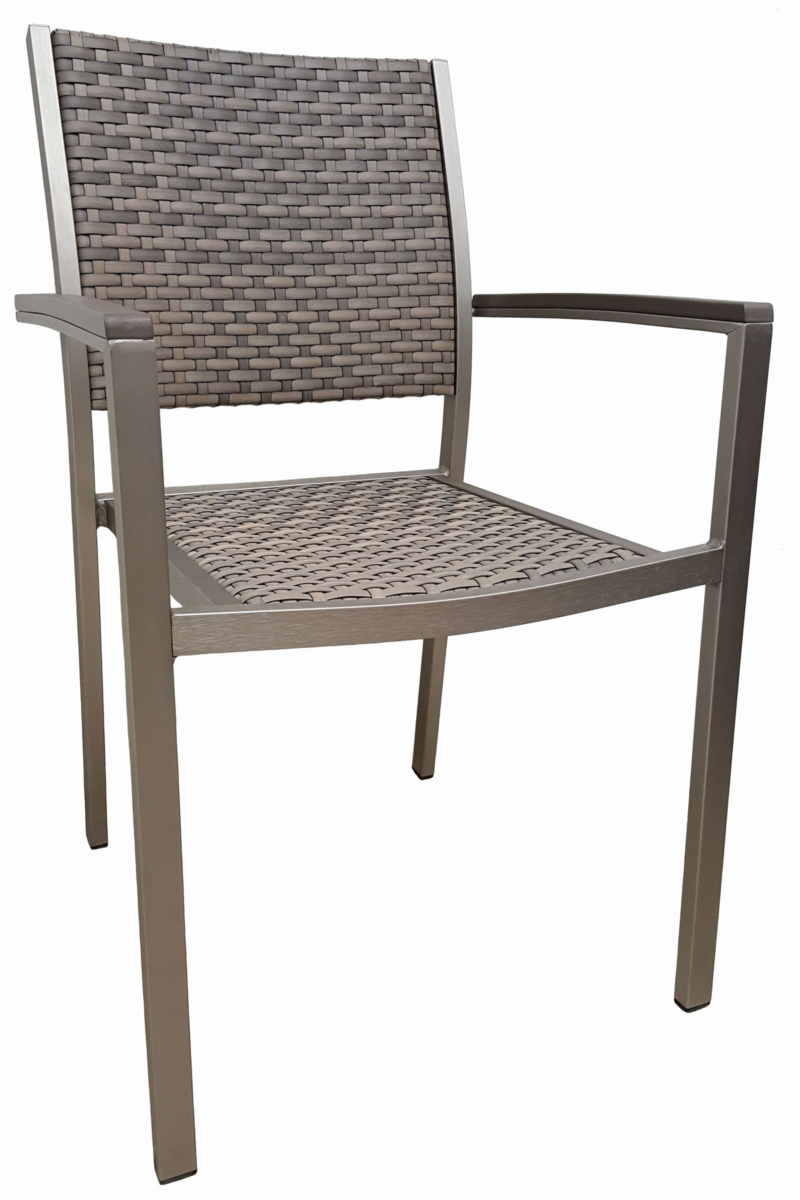 AL-420-04-R MADISON ARMCHAIR B.ALUM/DOLPHIN GREY WEAVE