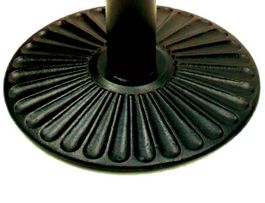 "SPOON CAST IRON BASE ONLY TB-CA-7017 (17"" DIAMETER) TB-CA-7022 (22"" DIAMETER) TB-CA-7030 (30"" DIAMETER) FLAT BLACK"
