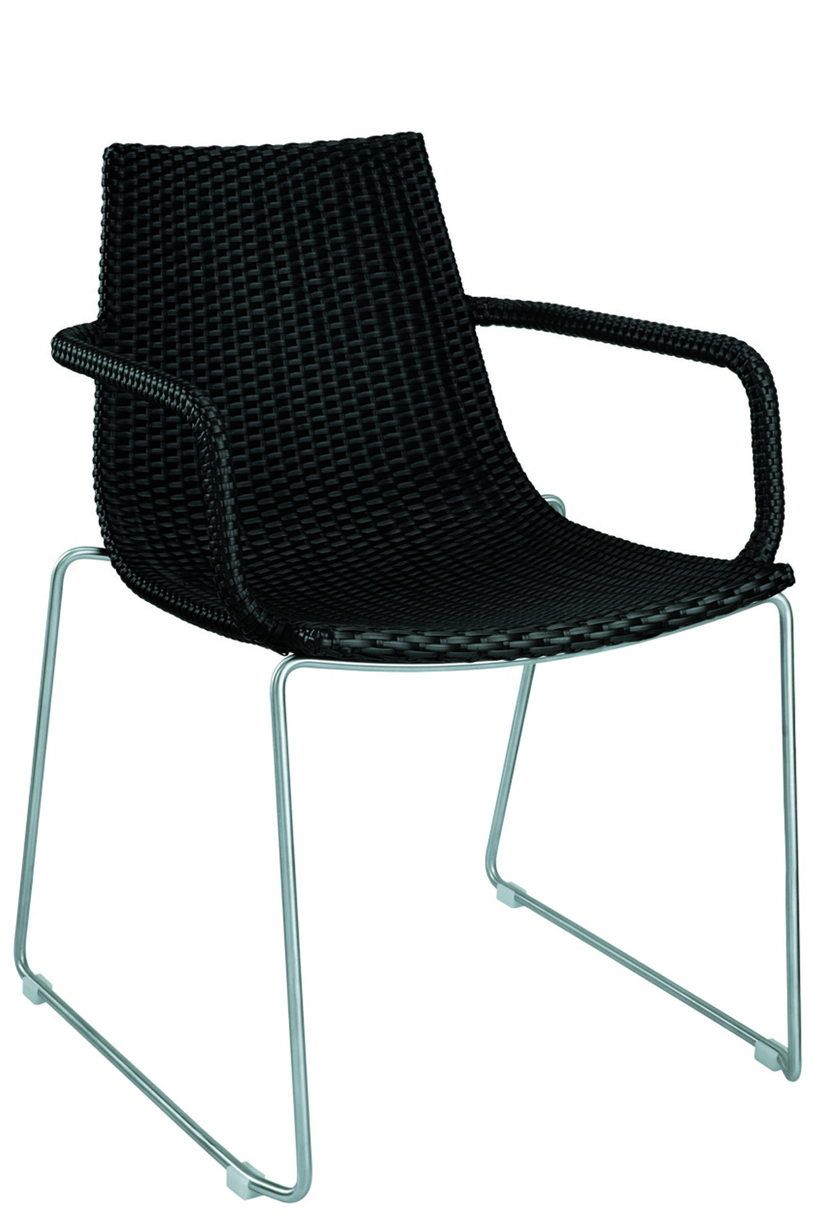 AL-7907-04-R DYNAMIC ARMCHAIR BLACK REEDED
