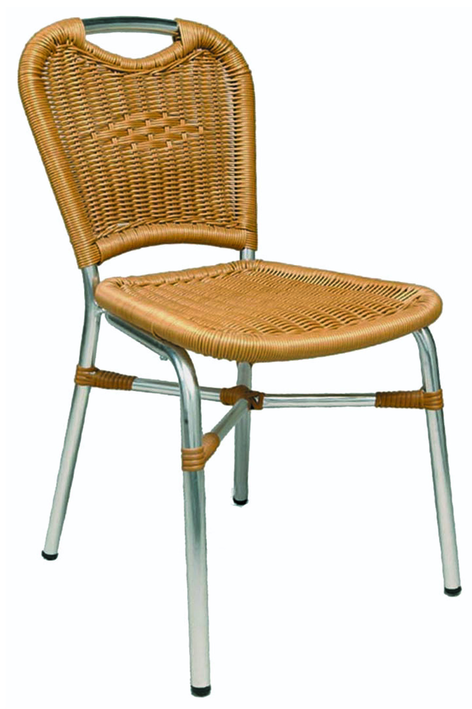 AL-112 DAVOS SIDECHAIR ALUM/HONEY